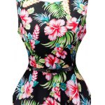 Floral Print Sleeveless Retro Style Dress deal