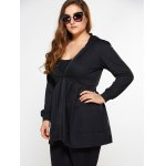 cheap Zip Up Skirted Plus Size Hoodie