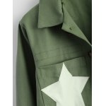 Star Frayed Hem Short Cropped Jacket deal