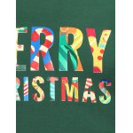 Crew Neck Flocking Merry Christmas Sweatshirt deal