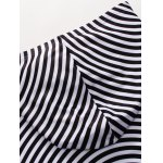 3D Spiral Stripe Print Flocking Black and White Hoodie men for sale