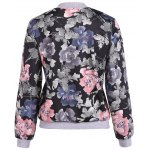 cheap Floral Print Lace Insert Jacket