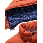 cheap Zip Up Patch Design Padded Hooded Jacket