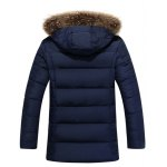 cheap Faux Fur Collar Hooded Thicken Zip Up Quilted Coat