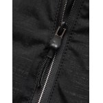 Hooded Applique Thicken Zip Up Jacket for sale