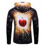 cheap 3D Christmas Tree and Stars Print Flocking Hoodie