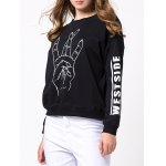Funny Hand Printed Crew Neck Sweatshirt for sale