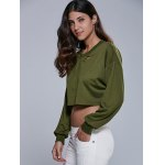 cheap Destroyed Cropped Sweatshirt