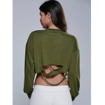 Destroyed Cropped Sweatshirt for sale