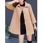 Double Pocket Woolen Loose Coat