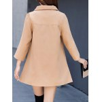 Double Pocket Woolen Loose Coat deal