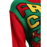 Christmas Fruit Cake Pattern Plus Size Sweater for sale