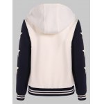 Two Tone Hooded Patched Casual Jacket deal