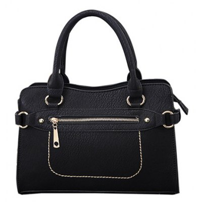 Textured PU Leather Tote