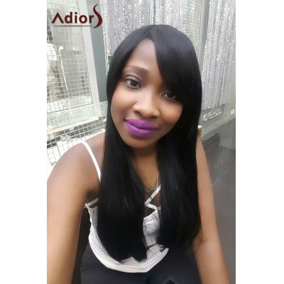 Adiors Long Side Parting Natural Straight Synthetic Wig