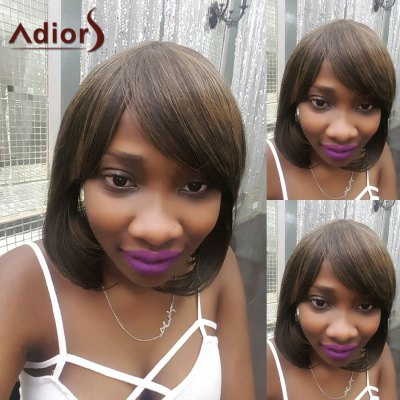 Adiors Short Side Bang Colormix Straight Bob Synthetic Wig