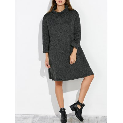 Loose Knee Length Shift Dress