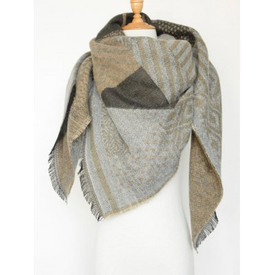 Aztec Geometry Fringed Knit Shawl ScarfWomens Scarves<br>Aztec Geometry Fringed Knit Shawl Scarf<br><br>Scraf Type: Scarf<br>Group: Adult<br>Gender: For Women<br>Style: Fashion<br>Material: Acrylic<br>Season: Fall,Winter<br>Scarf Length: 140CM( Not included tassel length)<br>Scarf Width: 130CM<br>Weight: 0.332kg<br>Package Contents: 1 x Scarf