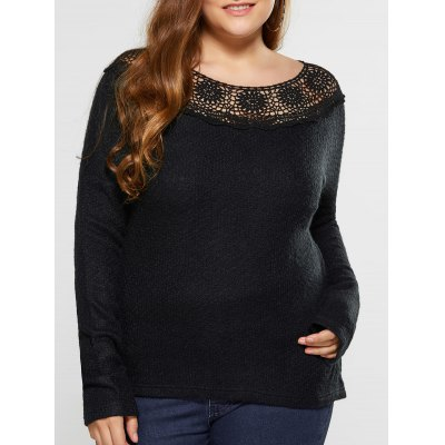Plus Size Hollow Out Knitwear