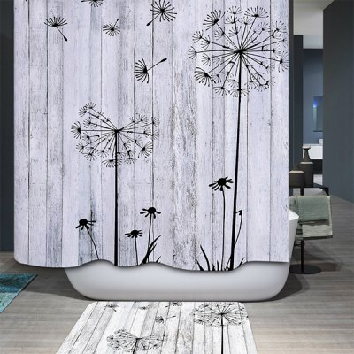 Concise Dandelion Water Resistant Mildewproof Shower Curtain