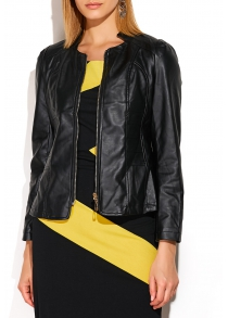 Faux Leather Short Cropped Jacket