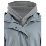 Hooded Waistcoat and Denim Jacket Twinset for sale