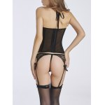 Sheer Halter Mesh Corset Top deal