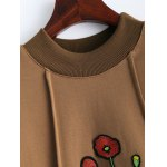 Floral Embroidered Fleece Sweatshirt deal