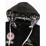 Hooded Embroidered Lengthen Thicken Jacket deal