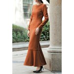 Long Sleeve Trumpet Maxi Dress for sale