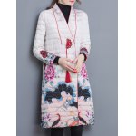 cheap Quilted Vintage Printed Coat