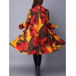 cheap Toggle Patchwork Quilted Coat