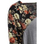 Floral Open Front Duster Coat for sale
