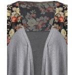 Floral Open Front Duster Coat deal