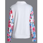 cheap Floral String Loose Sweatshirt