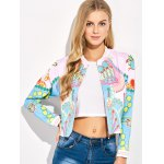 cheap Lipstick 3D Print Cropped Bomber Jacket
