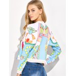 best Lipstick 3D Print Cropped Bomber Jacket