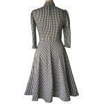 Checked Bow Sweet Heart Neck Swing Dress for sale