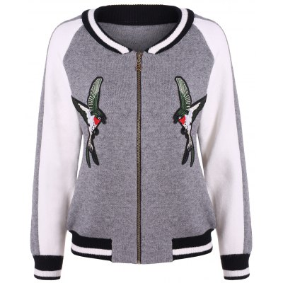 Embroidery Sweater Souvenir Jacket