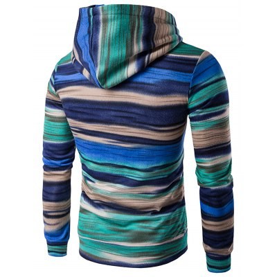 Hooded Colorful Stripe Print Long Sleeve HoodieMens Hoodies &amp; Sweatshirts<br>Hooded Colorful Stripe Print Long Sleeve Hoodie<br><br>Material: Cotton,Polyester<br>Clothing Length: Regular<br>Sleeve Length: Full<br>Style: Fashion<br>Weight: 0.362kg<br>Package Contents: 1 x Hoodie