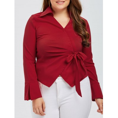 Plus Size Wrap Shirt