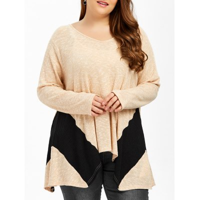 Plus Size Ribbed Smock T-Shirt