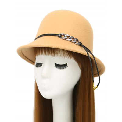 Winter PU Rope Dome Hat