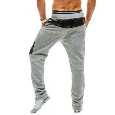 Rhombus PU Insert Drawstring SweatpantsMens Pants<br>Rhombus PU Insert Drawstring Sweatpants<br><br>Closure Type: Drawstring<br>Fit Type: Regular<br>Front Style: Flat<br>Material: Cotton Blends, Faux Leather<br>Package Contents: 1 x Pants<br>Pant Length: Long Pants<br>Pant Style: Wide Leg Pants<br>Style: Active<br>Waist Type: Mid<br>Weight: 0.2780kg<br>With Belt: No