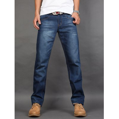 Straight Leg Zip Fly Jeans