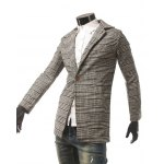 Side Pocket Houndstooth One Button Coat deal