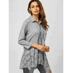 Lace Trim Smock Blouse for sale
