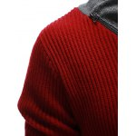 Zip Up High Neck Ribbed Pullover Sweater for sale