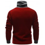 Zip Up High Neck Ribbed Pullover Sweater deal