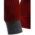 best Zip Up High Neck Ribbed Pullover Sweater